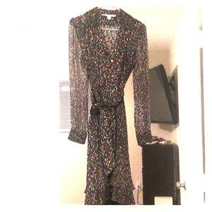 Cute and funky DVF wrap dress.